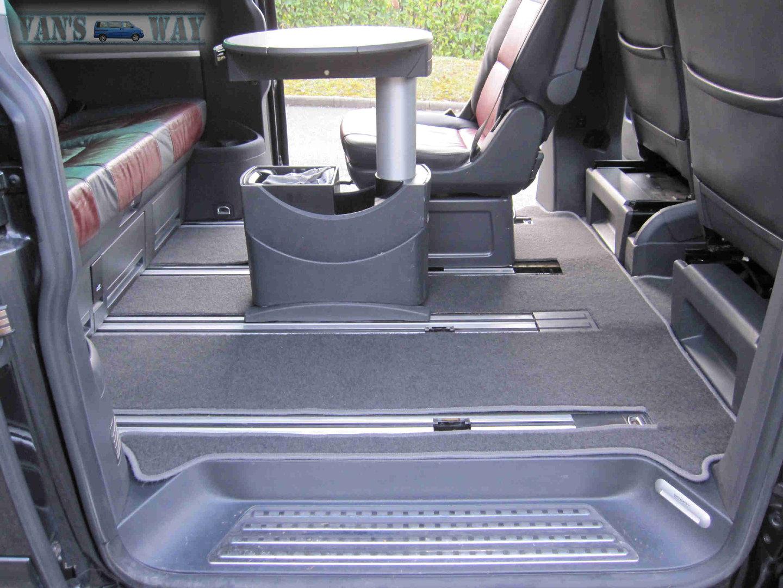 Ensemble tapis (arrière en 2 parties) VW T5 T6 MULTIVAN gris anth
