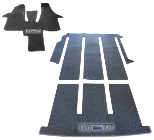 Ensemble tapis VW T5 T6 MULTIVAN / CALIFORNIA BEACH 1 porte latérale gris anthracite