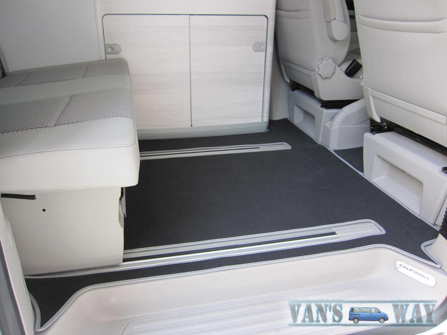kh Teile Tapis de sol pour T6 Multivan Caravelle California Conducteur Tapis de voiture velours Noir Rouge complet avant 1 pi/èce