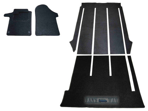 Ensemble tapis noir MERCEDES CLASSE V long, 2 portes coulissantes